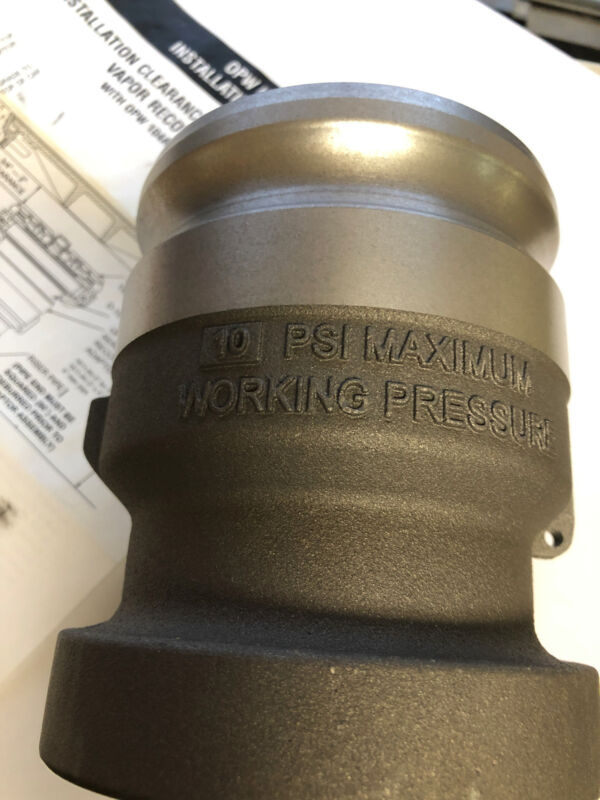 """OPW 1611AV-1620, 3"""" x 4"""" Vapor Recovery Adapter Alum."""