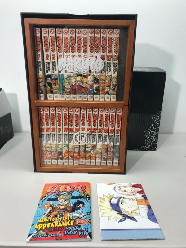 Naruto Volumes 1-27 Shadow Box Collector