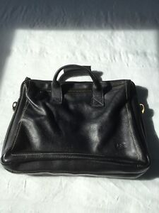 Men's messenger leather bag, like new