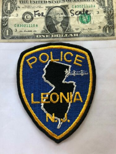 Leonia New Jersey Police Patch un-sewn in Great Shape