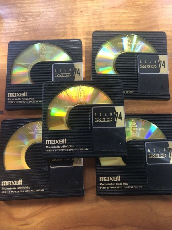 5 - Maxell Minidisc  74 minute Gold MD-74