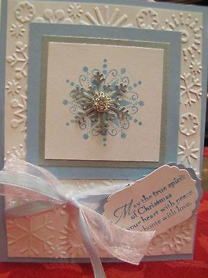 Sparkle Snowflake Spirit of Christmas Handmade Card Kit Some Stampin Up 4 cards