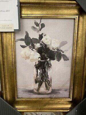 Target Studio McGee Wall Art - Threshold Flowers Vase Canvas Painting 11x14