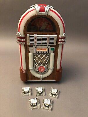 Vintage Leadworks Wurlitzer Fifties Micro Cassette Jukebox w/5 Cassettes