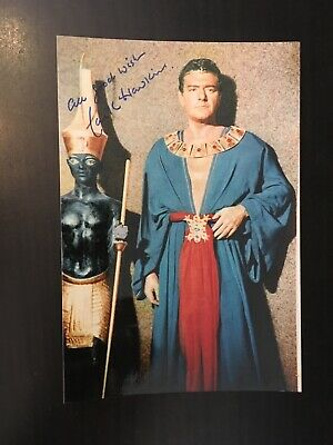 JACK HAWKINS - LEGENDARY BRITISH ACTOR - EXCELLENT SIGNED COLOUR PHOTO for sale  Shipping to Ireland