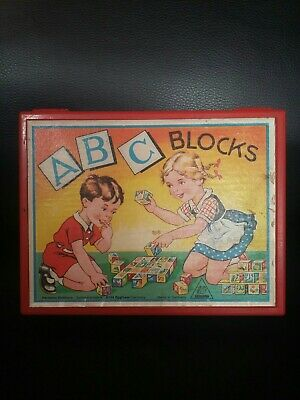 Vintage Eichhorn ABC Blocks Picture Puzzles Fairy Tales Case West Germany