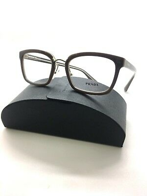 PRADA Opal Dark Brown RX Eyeglasses VPR 09s Ued-1o1 demo lenses Frame 53-21-140