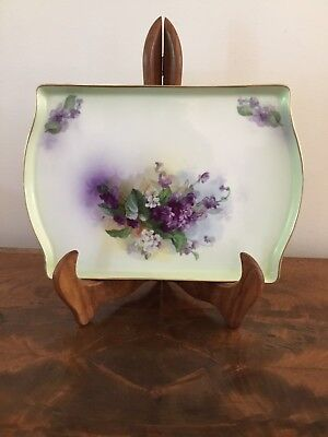 Hand Painted Porcelain Platter Prussia Royal Rudolstadt Dish Tray