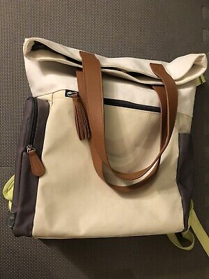 Cloud Island Diaper Bag Backpack w/ Changing Pad Green White Brown Mint