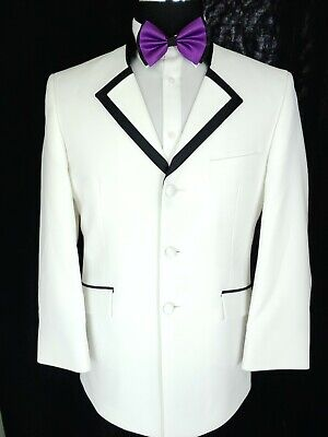 Classic White After Six 3Button Tuxedo Jacket Formal Blazer Coat Wash & Wear 38S After Six Formal Wear
