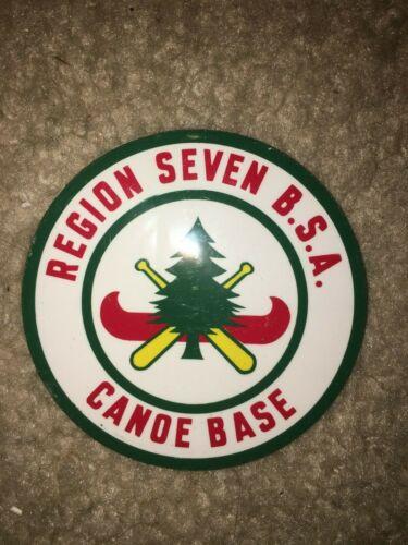 Boy Scout BSA Region Seven 7 Explorer Canoe Base Landing Wisconsin Sticker 1