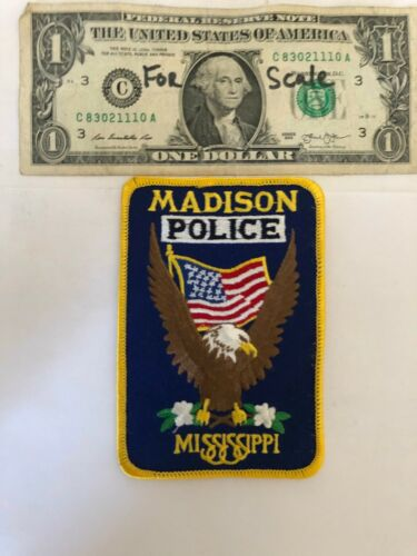 Madison Mississippi Police Patch Un-sewn great condition