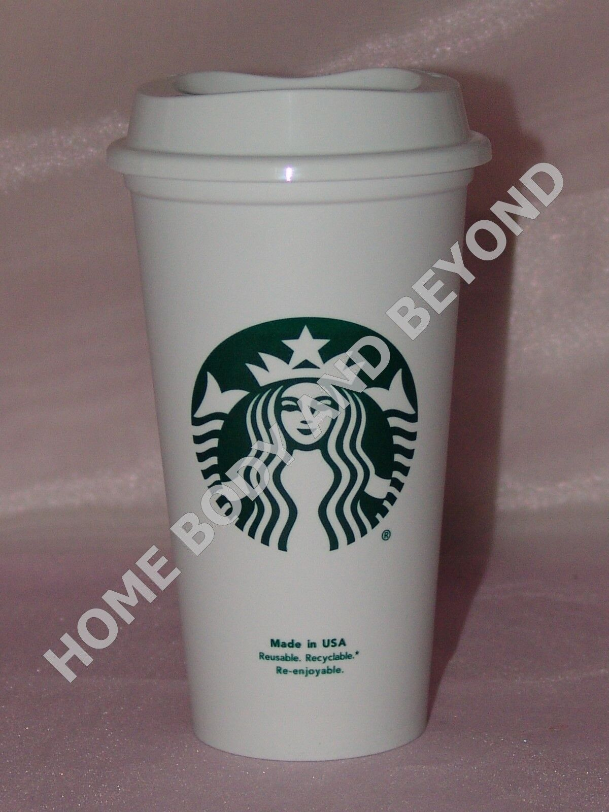 STARBUCKS Reusable Grande 16 OZ Plastic Coffee Tea Hot Cup
