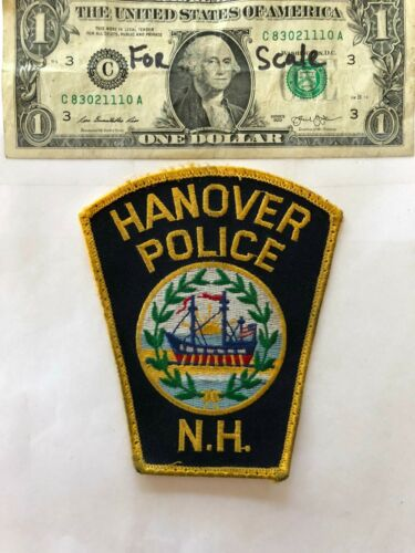 Hanover New Hampshire Police Patch pre-sewn in good shape