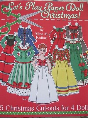 LET'S PLAY PAPER DOLL CHRISTMAS Book by Alina Kolluri w/125+ Pieces to Cut Out! ()