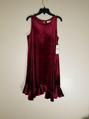 GB Girls Red Velvet Sleeveless Dress NWT Size - Red Velvet Dress Girls
