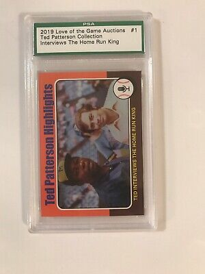 2019 Love Of The Game Hank Aaron The Home Run King PSA Promo