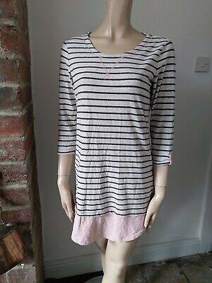 ISAAC MIZRAHI New York Designer long top jumper mini skirt striped grey XS