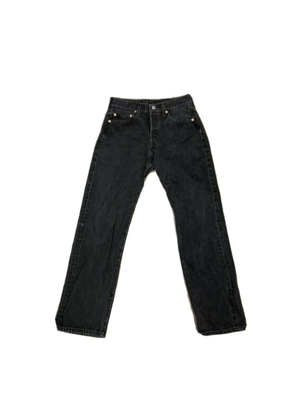 VTG 90's Levis 501 Button Fly Jeans Black Size 27 X 32