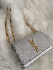 YSL saint laurent small Kate chain bag/clutch (silver/gold) Castle Hill The Hills District Preview