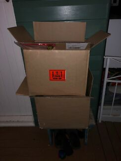 2x sturdy book boxes packing boxes materials