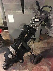 Fairway golf club set with cart and bag beginner set