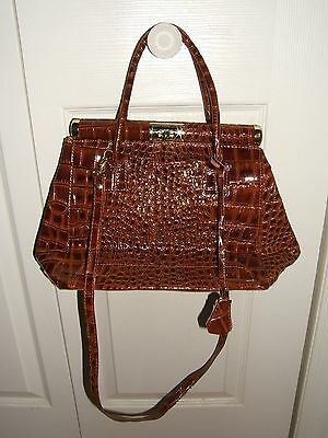 NWOT BORSE IN PELLE BROWN GENUINE LEATHER SHOULDER BAG HANDBAG ...