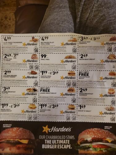 Hardees Coupons No Shipping Cost. Ecp 4/15/21. 15 Value - $4.25