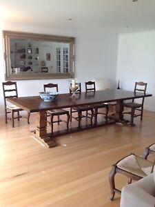 Parquetry Top Table In French Oak Finish (PR $1000-$9500)