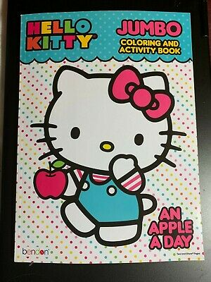 Hello Kitty Coloring Books (HELLO KITTY JUMBO COLORING & ACTIVITY BOOK AN APPLE A DAY CHILDREN KIDS)