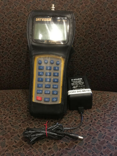 Satvision SM-9801 TV Signal Level Meter w/Case & Power Supply