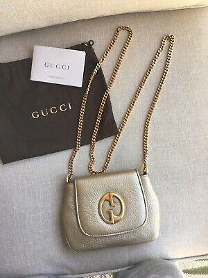 Gucci Dark Gold Metallic Crossbody Bag