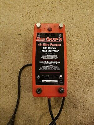Electric Fence Controller 15 Mile Red Snapr 66b Works Great 110 Volts 60hz