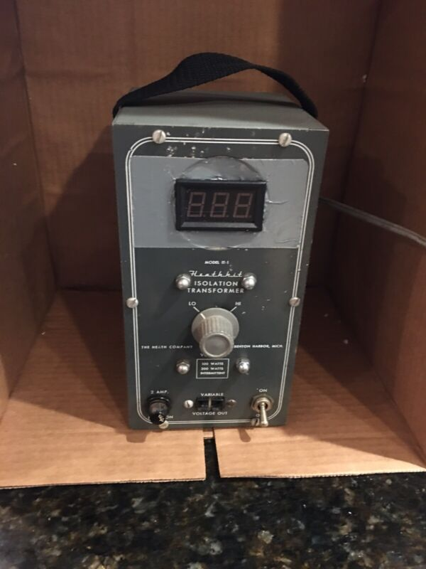 Heathkit IT-1 Variable Isolation Transformer Upgraded with Digital Readout