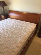 Timber Sleigh King Bed with King sized Mattress  Cornubia Logan Area Preview