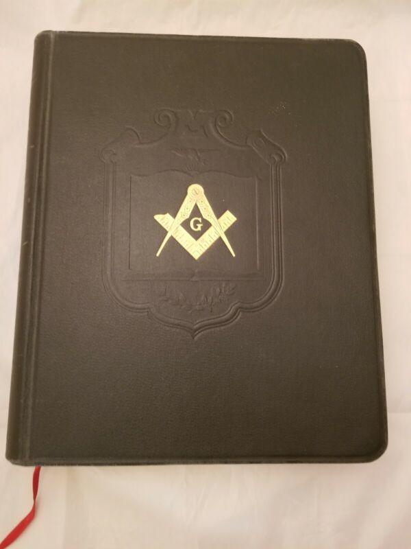 Vintage 1937 Large Masonic Freemason Edition Holy Bible Holman Nice!