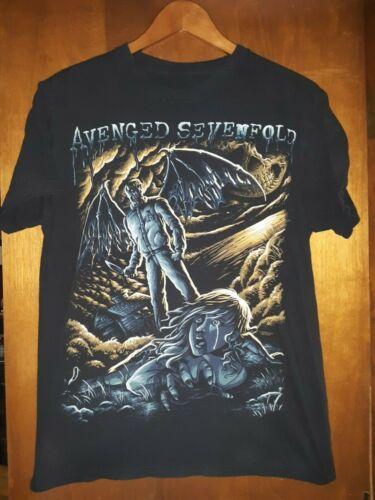 Avenged Sevenfold- Horror Lic Black T-Shirt- Medium