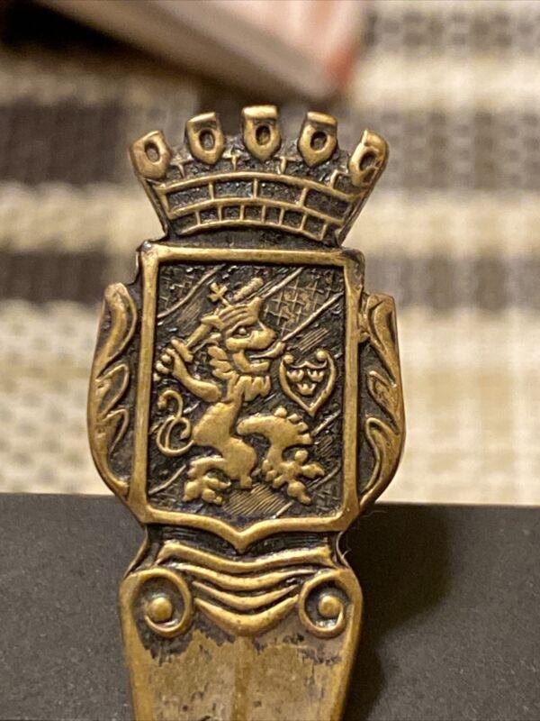 Vintage! Coat of Arms Collectible/Souvenir Spoon! Lion! Sword! Sweden! - A