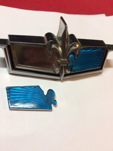 1975 76 Caprice Plastic Inserts Header Badge AQUA BLUE glasshouse Lowrider Donk