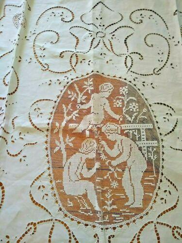 Antique Lace Linen Bedspread