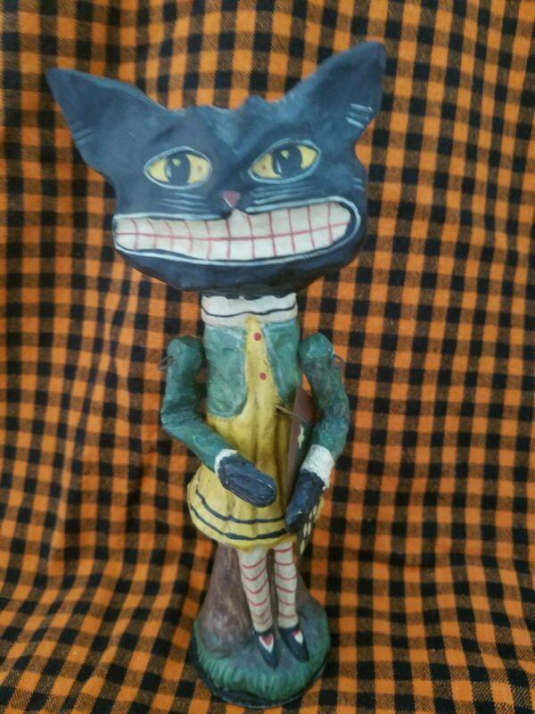 Vintage Looking Department 56 Halloween Black Cat Figurine