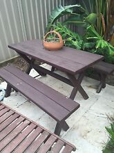 Wood outdoor setting Caringbah Sutherland Area Preview