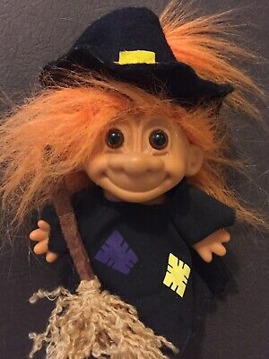 Troll Doll Vintage Russ Halloween Witch Collectable Doll 90's Toy Troll Doll