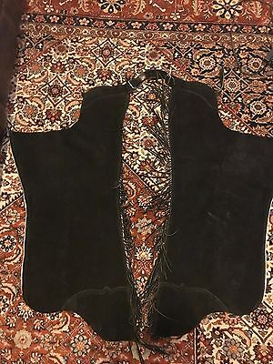 Whitman Black rough leather Western Show Chaps