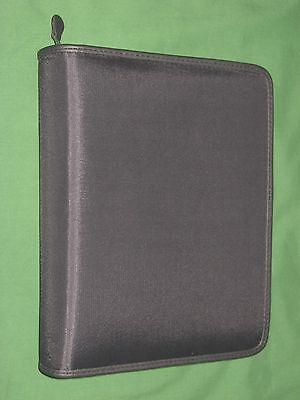 Classic 1.5 Black Nylon Franklin Covey Planner Binder Sport Zipper 4306