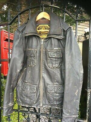 Original SUPERDRY leather jacket size s-medium