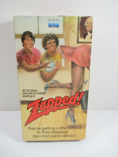 Tough to find VHS Tape Zapped! Zapped starring Scott Baio Willie Aames