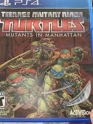 PS4 Teenage Mutant Ninja Turtles MUTANTS IN MANHATTAN - PLAYSTATION 4 Fast Ship