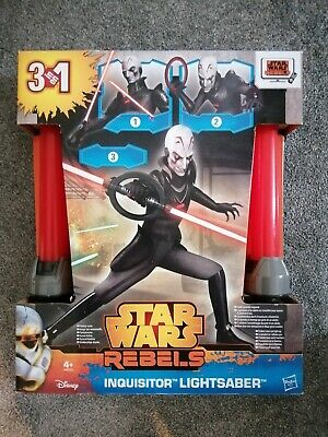 STAR WARS REBELS INQUISITOR LIGHTSABER NEW IN BOX UK