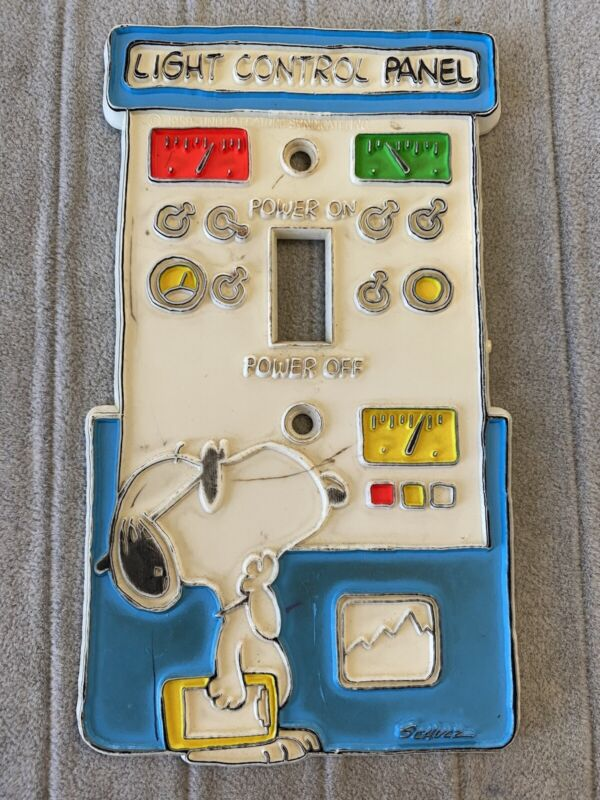 Vintage 58 Snoopy Light Control Switch Plate Cover